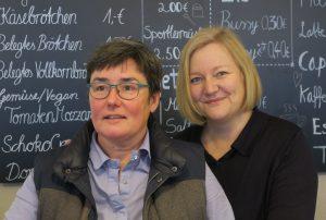 Büroteam: Caroline Heyl und Anja Reiser (von links)